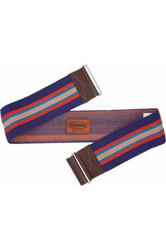MISSONI  Leather-trimmed striped stretch belt