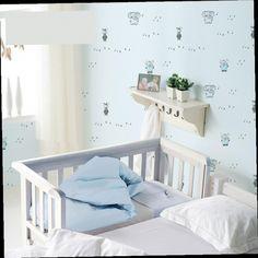 43.83$  Buy here - http://alihm2.worldwells.pw/go.php?t=32743724492 - Free Shipping Children Wallpaper Non Woven 3d Bedroom Boy Girl Cartoon Blue 5.3m2 43.83$
