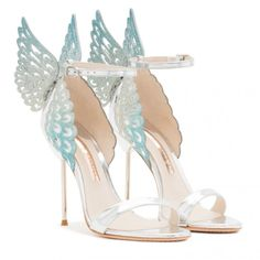Pretty Shoes, Beautiful Shoes, Cute Shoes, Me Too Shoes, Bridal Shoes, Wedding Shoes, Butterfly Heels, Fashion Shoes, Fashion Accessories