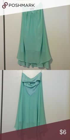 Sheer strapless dress Sheer mint dress with lining & an open back. Looks great when you add a belt. Fast Shipping. Dresses