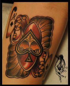 Ace of spades, Fingers Dött…Swahili Bobs Tattoo Stockholm, Sweden. Luck Tattoo, Card Tattoo, Get A Tattoo, Tattoo Pics, Tattoo Designs And Meanings, Tattoo Designs For Women, Tattoos With Meaning, Beautiful Tattoos, Cool Tattoos