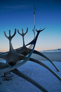 The Sun Voyager Sculpture, Reykjevic Iceland.  Simply gorgeous.