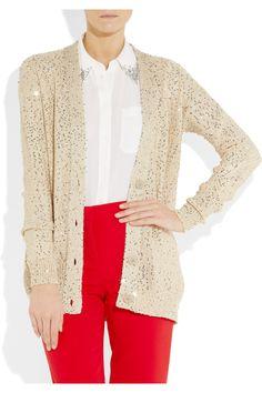 STELLA MCCARTNEY  Sequined cotton-blend cardigan  $1,495