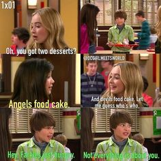 "#GirlMeetsWorld 1x01 ""Girl Meets World"" - Farkle, Maya and Riley"