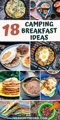 These quick and easy camping breakfasts will have you jumping out of your sleeping bag in the morning and ready to start your day. Pin this list to make your camping trip planning easy! Source by freshoffthegrid Camping Meal Planning, Camping Menu, Trip Planning, Family Camping, Camping Fridge, Camping Signs, Camping Theme, Winter Camping, Camping Hacks