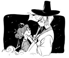 Art by @gravity_cam | Joseon AU — Bill and Mabel | Twitter