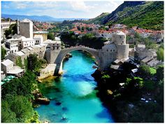 "beautiful.. Stari Most. ""The Old Bridge"" in the city of Mostar in Bosnia and Herzegovina"