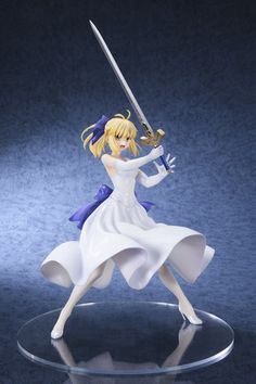 Saber White Dress Version 1/8th Scale Figure - Fate/Stay Night on Crunchyroll