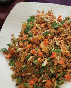 Рецепт «Салат из пшеницы с коричной заправкой»