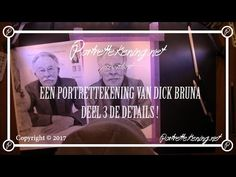 Portrait Drawing Tutorial: Dick Bruna Part 3 'The details'.