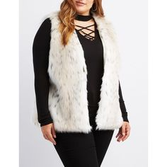 ee769166c6c Charlotte Russe Spotted Leopard Faux Fur Vest ( 43) ❤ liked on Polyvore  featuring plus
