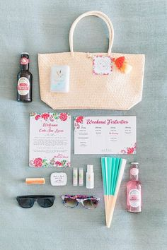 Wedding Details for welcome bag with fan sunglasses and drinks - Photography: JBJ Pictures | Colorful Cabo Destination Wedding - Belle The Magazine Best Bride, Dream Wedding, Wedding Day, Honeymoon Spots, Up To The Sky, Welcome Bags, Wedding Honeymoons, Ginger Beer, Ceremony Decorations