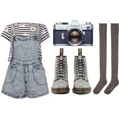 Untitled #61 by twisted-candy on Polyvore featuring Paprika, Bitching & Junkfood, Hansel from Basel, Dr. Martens and vintage