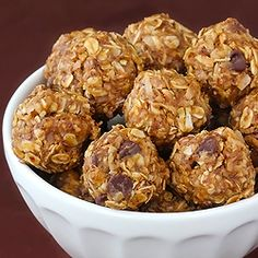 "No-Bake ""Energy Bites"" ~~ these taste just like no-bake cookies, but are way healthier and easy."