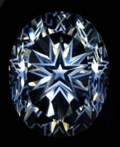 Natural Topaz Colorless Oval Star Cut Gem