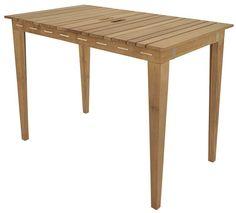 Cinas Dry under  -  Havebord - Natur - Smart udendørs havebord i massiv teaktræ, som kan laves om til et tørrestativ.  Bordet har tørresnor indbygget i bordet og passer perfekt til din altan og lille have. Bordet har et skandinavisk og flot design.