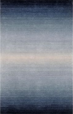 Trans Ocean Ombre Horizon Denim Rug 5' x 8' $350