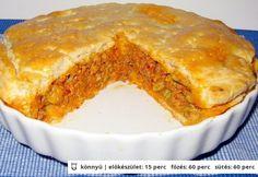 Zöldbabos húsos pite
