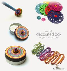 FREE TUTORIAL: polymer clay box using extruded strings, by LUCY Struncova.