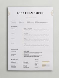 elegant resume template word psd - Resume Template In Word