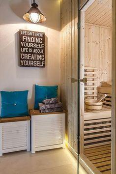 Ocieplony styl skandynawski - dom w Dąbrowie Leśnej | Weranda.pl http://www.weranda.pl/archiwum/489-2015-01/15683-ocieplony-styl-skandynawski?cid=15 #weranda #stylskandynawski #sauna