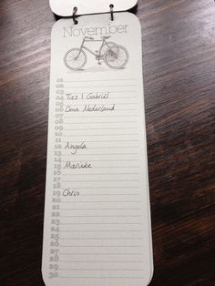 free printable birtthday calender: cycles or moustaches... so nice!