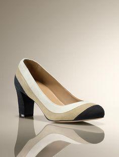 Talbots - Rae Colorblocked Suede Pump | Heels | Medium