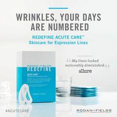 Rodan + Fields REDEFINE Acute Care. Comparable to injectable wrinkle fillers http://jechegaray.myrandf.com