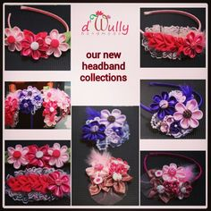 Kanzashi flowers headbands 2