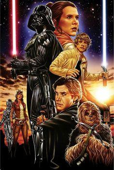 Leia ORGANA, DARTH VADER, Luke SKYWALKER, Dr. APHRA, Han SOLO and Chewbacca | By Mark BROOKS (MARVEL Comics) | STAR WARS : Comics