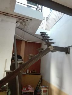 Steel Stairs, Loft Stairs, House Stairs, Floating Staircase, Modern Staircase, Spiral Staircase, Home Stairs Design, Interior Stairs, Building Stairs