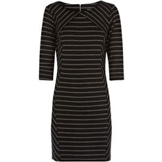 Warehouse Striped Bodycon Dress, Grey/Multi ($58) ❤ liked on Polyvore