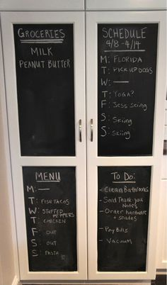 Home with Baxter: Kitchen Chalkboard