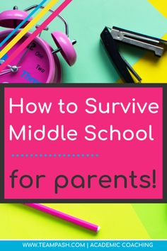 A Parent's Guide for Surviving Middle School — Team Pasch Academic Coaching School Schedule, School Planner, School Tips, Note Taking Tips, 8th Grade Graduation, Middle School Reading, High School Years, School Motivation, Study Skills