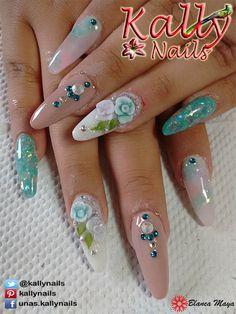 Uñas de Acrilico por Kally Nails Cuernavaca Morelos, Mexico La belleza al alcance de tus manos