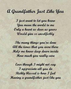 Poem : grandpa
