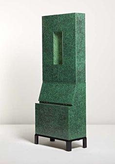"""Piero Fornasetti, Rare illuminated """"Malachite"""" trumeau, 1956."""