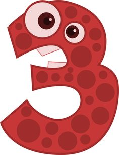 Three - Animal by @horse50, Animal shaped number three., on @openclipart