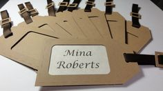 Classic Luggage Tag Place Cards by MiLKKrafts on Etsy