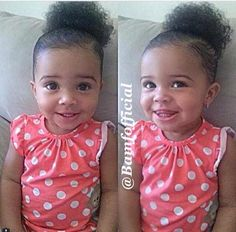 Beautiful baby girl with big brown eyes and an irresistible smile Beautiful Black Babies, Beautiful Children, Baby Kind, Pretty Baby, Little Babies, Cute Babies, Baby Girl Hairstyles, Mixed Babies, Everything Baby
