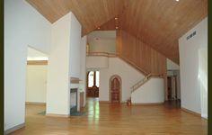 Contemporary coastal design.... the ceilings are so high, it kinda feels like a church!