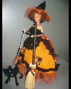 sorcière en robe grand soir