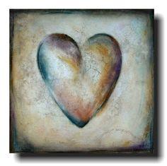 """""""vintage heart"""" acrylic on canvas"""