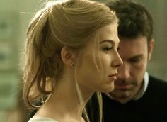 """Gone Girl"" movie still, 2014.  L to R: Rosamund Pike, Ben Affleck."