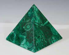 "Wonderful Large 80mm 3""  Green Malachite Healing Energy Point Pyramid Reiki"