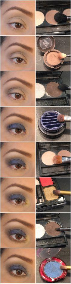 Maquiagem de Sexta - Azul holográfico