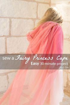 How to make a fairy princess cape - Easy DIY sewing tutorial by Melly Sews