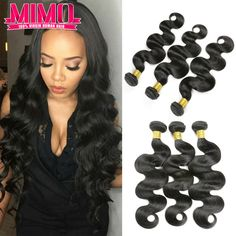 7A Unprocessed Peruvian Virgin Hair Body Wave 3 Bundles Queen Hair Products Peruvian Body Wave  Peruvian Human Hair Weaves MIMO