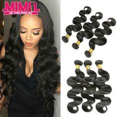 7A Unprocessed Peruvian Virgin Hair Body Wave 3 Bundles Queen Hair Products Peruvian Body Wave  Peruvian Human Hair Weaves MIMO