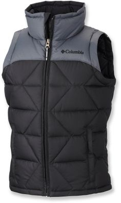 At REI Outlet: Boys' Columbia Destroyer Down Vest — Good looking vest for little boys.